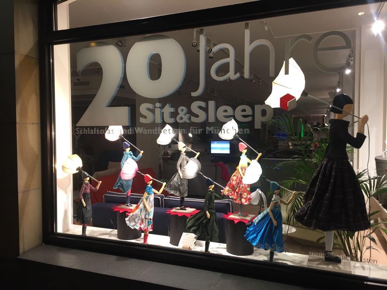 Schaufensterbeschriftung Für Sit Sleep Corporate Line Marken